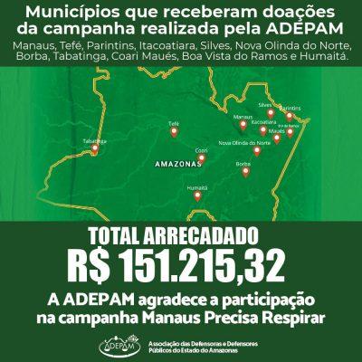 CAMPANHA DA ADEPAM BENEFICIA 12 MUNICÍPIOS AMAZONENSES
